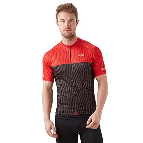GORE Wear C3 Men Short Sleeve Jersey, S, Gray/Rot