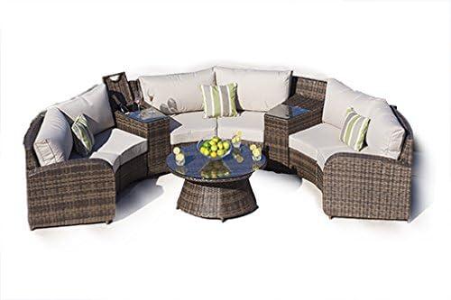arc2 – Juego de sillones de exterior de mimbre tejido Modular Juego de sofá de exterior muebles de jardín/terraza Muebles de jardín: Amazon.es: Jardín
