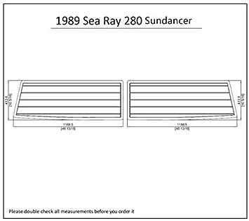 Amazon com : 1989 Sea Ray 280 Sundancer Swim Platform Pad 1