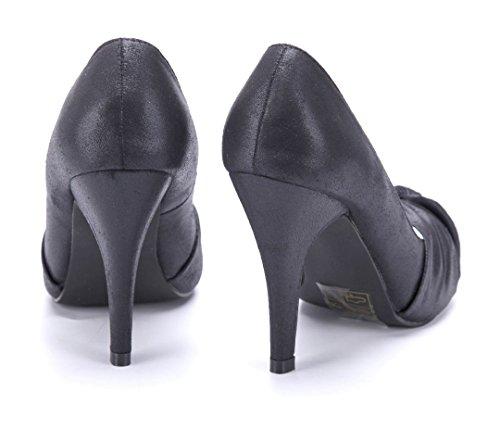 915a2b5d6ce02c Schuhtempel24 Damen Schuhe Peeptoes Pumps Stiletto 10 cm High Heels Schwarz  ...