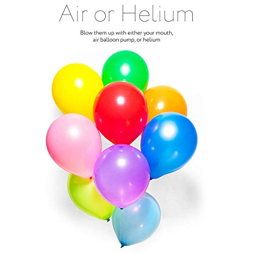 MSOO 100Pcs 12 inch Balloons Birthday Wedding Grad Party Assorted Colored Decor ()