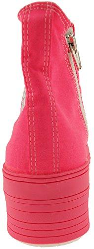 High Canvas Sneakers Maxstar Color Fluorescent Pink Shoes Platform Top EgnnqfAz7