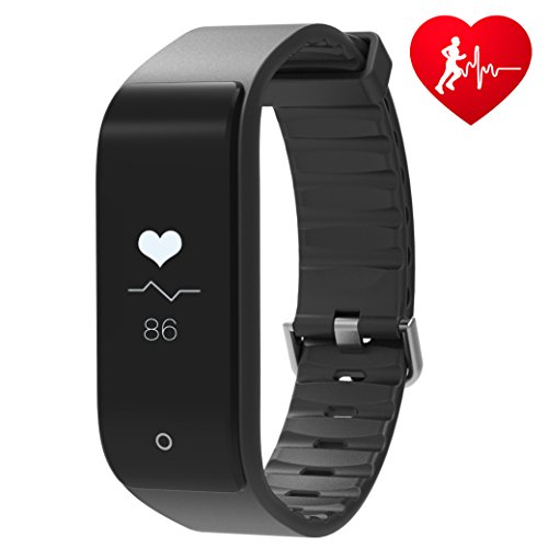 Fitness Tracker RIVERSONG Bluetooth 4.0 Smart Watch Heart Rate Monitor Step Tracker Distance Calorie Counter Sleep Tracker Pedometer Activity Tracker Bracelet Wristband for iPhone / Android