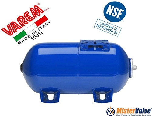 Varem Horizontal Pressure tanks for potable water and pump systems wite replaceable bladder (5.3 Gallons)