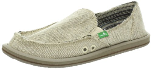 Sanuk Women's Donna Hemp Slip-On,Natural,6 M US