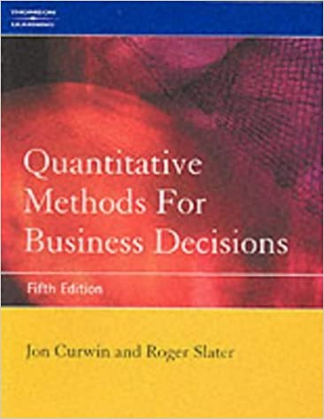 Book Quantitative Methods for Business Decisions by Jon Curwin (2002-08-16)