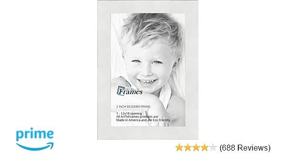Amazon.com - ArtToFrames 12x18 inch Modern White Frame Picture Frame ...