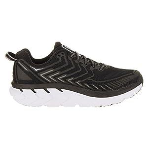HOKA ONE ONE Women's Clifton 4 Black/White Running Shoe - inner side