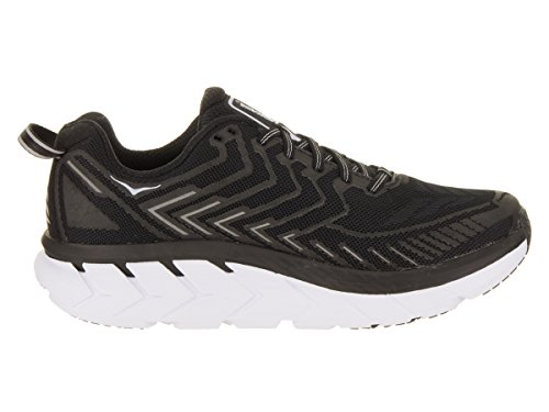 HOKA ONE ONE Women's Clifton 4 Black/White Running Shoe - inner side