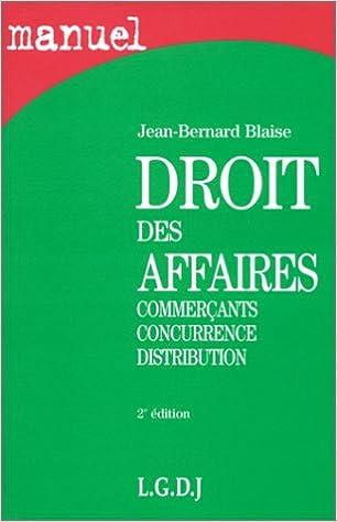 Manuel Droit des Affaires pdf, epub