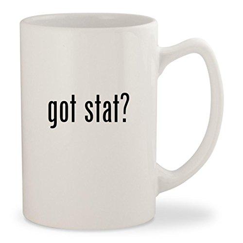 got stat? - White 14oz Ceramic Statesman Coffee Mug Cup