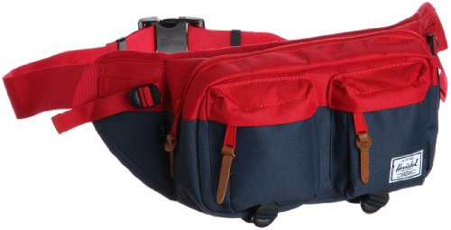 Herschel Supply Co. Eighteen, Red/Navy, One Size, Outdoor Stuffs
