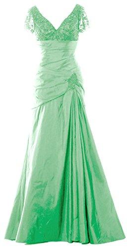Mint Long Bride Dress V Formal Women Macloth Mother Short Sleeve Neck Gown Of Evening n8AfqXOg