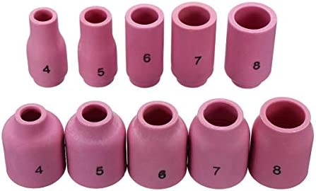 Arc Welding Nozzles for WP-17/18/26 49Pcs TIG Welding Torch Stubby Gas Lens #10 Pyrex Glass Cup Kit