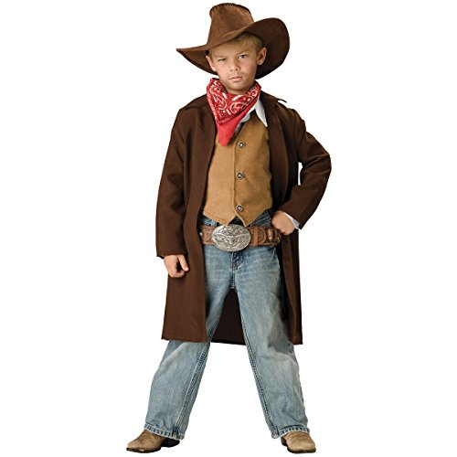 InCharacter Costumes, LLC Boys 8-20 Rawhide Renegade Duster Jacket Set, Brown, 10 -