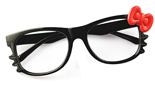 26031e2fd750 FancyG® Cute Nerd Glass Frame with Bow Tie Cat Eyes Whiskers Eyewear for  Kids 3