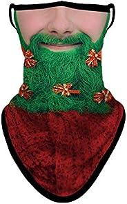 3D Face Mask with Ear Loops, Neck Gaiter, Bandana Skull Face Scarf Mask Men Women