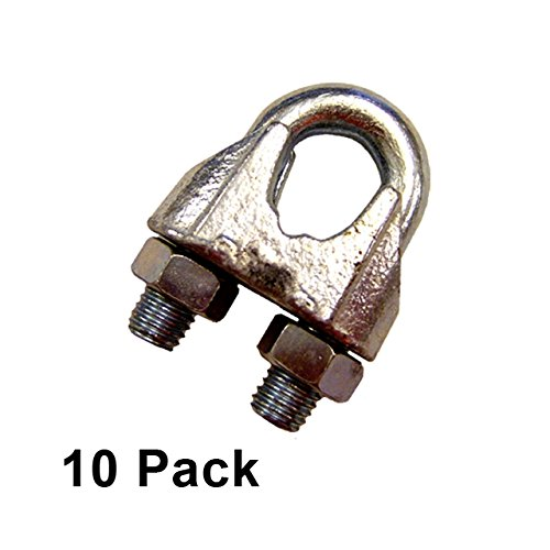 3/4'' Zinc Plated Malleable Wire Rope Clip (10 pack)