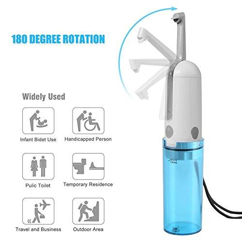 DeWin Bidet Sprayer - Electric USB Charge Handheld Bidet Toilet Portable Sprayer, Bathroom Handy Travel Kit by DeWin (Image #3)