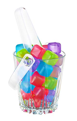 Freedom Reusable Plastic Ice Cubes, Assorted Colors (36 Cubes)