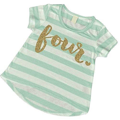 Girl Fourth Birthday Shirt, 4th Birthday Shirt Girl (4T)