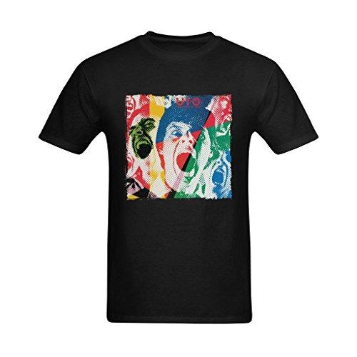 (ReaGuo Men's UFO Band Album Cover T-shirt)