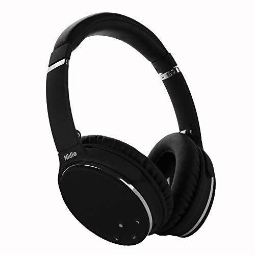 Noise Cancelling Headphones, Nidio Bluetooth Wireless Over Ear Headset, Foldable...
