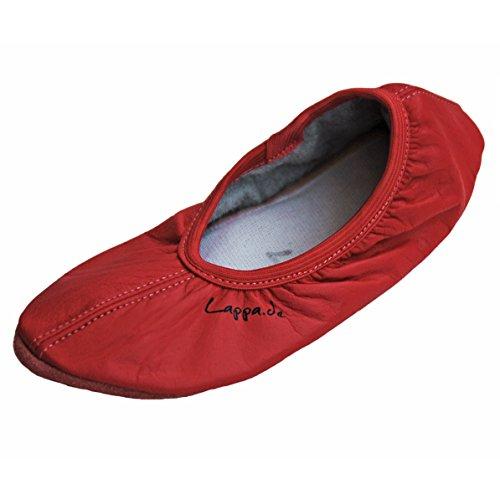 Lila Ledersohle Rot Turnschläppchen Schläppchen Gymnastikschuhe Lappade Weiß Jensblau mit Gr Rosa 46 28 Schwarz Lachsrot XqxvI1