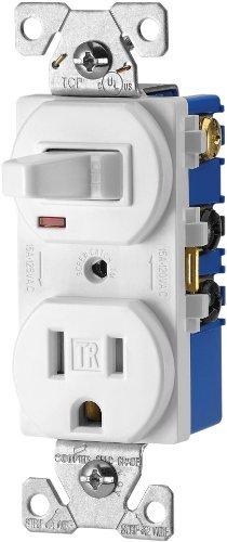 amazon com eaton tr274w 3 wire receptacle combo single pole switch rh amazon com