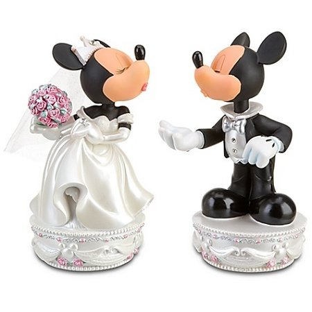 Disney Mickey & Minnie Mouse Wedding Bobbleheads Large