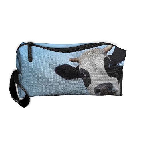 Cow Head Face Travelling Makeup Pouch For Women Cosmetic Case With Zipper
