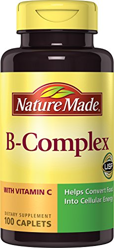 Nature Made B-Complex with Vitamin C, 100 Caplets (Pack of 3)