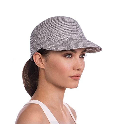 Eric Javits Designer Women's Mondo Cap Hat - Small-Medium, Silver by Eric Javits