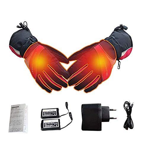 DANG&SHOP Beheizte Handschuhe, Wiederaufladbare Beheizbare Handschuhe mit Wärmere Liner für Outdoor Klettern Wandern Radfahren Snowboarden