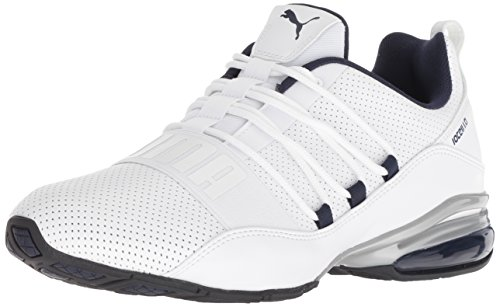PUMA Men's Cell Regulate SL Sneaker, White Black-Peacoat Silver, 12 M US