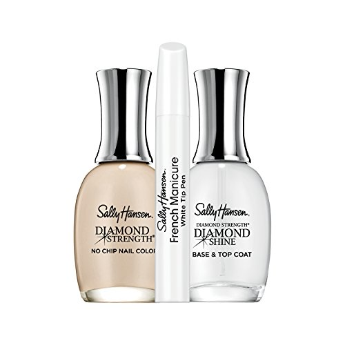French Manicure Pedicure (Sally Hansen Diamond Strength French Manicure Pen Kit, Barely There)