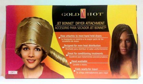 Gold Hot Jet Conditioning Bonnet Dryer Attachment Matte Gold Colour Item# GH9477* China