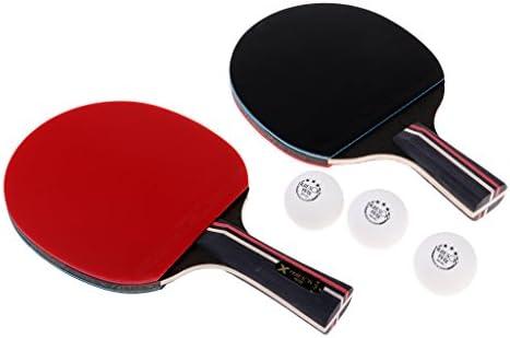 CUTICATE 2本 卓球ラケット ピンポンパドルバット 全3タイプ