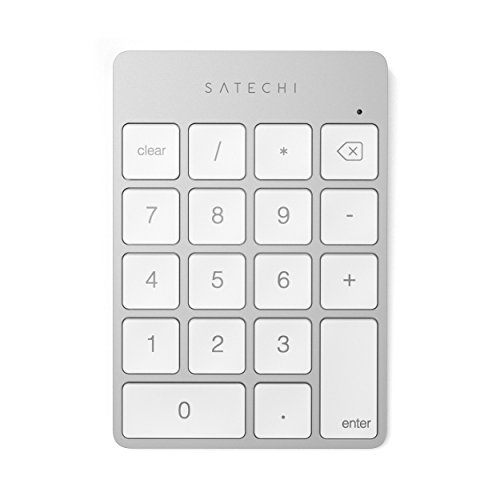 Satechi Slim Aluminum Bluetooth Wireless 18-Key Keypad Keyboard Extension - Compatible with 2017 iMac, iMac Pro, MacBook Pro, MacBook, iPad, iPhone, Dell, Lenovo and More (Silver)