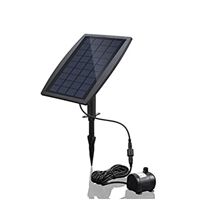 Solar Fountain Water Pump 2.5 W Floating Submersible Waterfall Decoration for Bird Bath Pond Garden Yard Outdoors,Solar Panel Kit