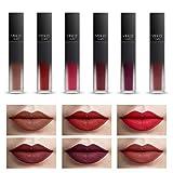 COOSA 6 PCS Matte Liquid Lipstick Set Non-stick Cup Waterproof Long Lasting Lipgloss Beauty Make Up Cosmetics Set