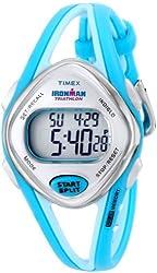 Timex Woman's T5K785 Ironman Sleek 50-Lap Turquoise Resin Sport Watch