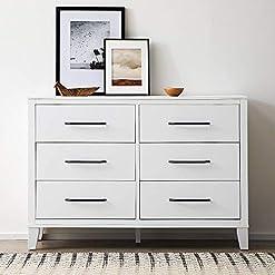 Bedroom Edenbrook DaleySixDrawer Modern Design-Easy Assembly Dresser, White