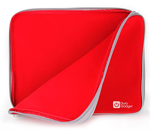 DURAGADGET Red Water Resistant Cover For HP Compaq Presario CQ58 250SA | HP Pavilion g6-2244sf 15,6| HP 2000-2b09WM With Dual Zips And Airport Approved - Compaq Led Cover