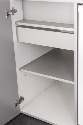 Mebasa MK0011S Schrankküche, Miniküche, Single Küche in Silber ... | {Schrankküche büro 82}