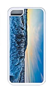 iPhone 5C Case, Personalized Custom Rubber TPU White Case for iphone 5C - Forest Cover