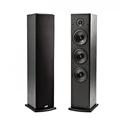 Polk Audio T50 Home Theater and Music Floor Standing Tower Speaker (Single, Black) by Polk Audio