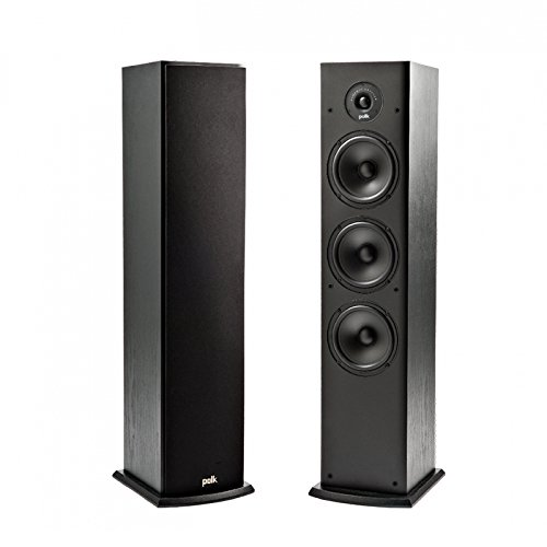 Review Polk Audio T50 Home Theater and Music Floor Standing Tower Speaker (Single, Black)