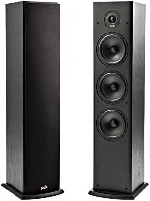 Polk Audio T50 Home Theater and Music Floor Standing Tower Speaker (Single, Black)