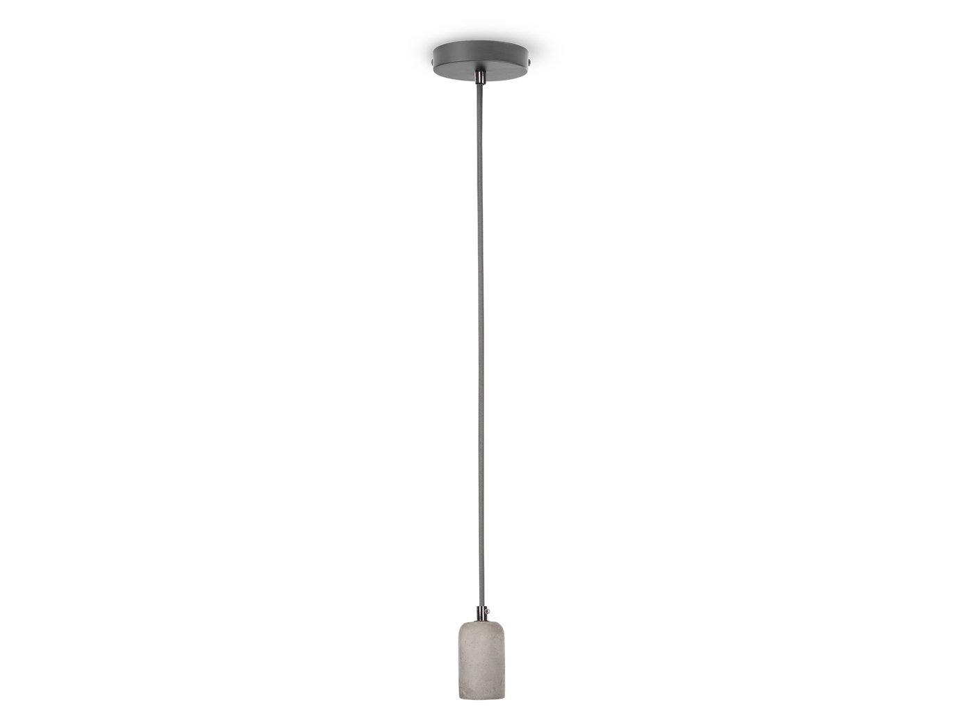 Hängelampe Vintage Schnurpendel aus Beton Stoff Kabel E27 Fassung Ø 7,8 cm